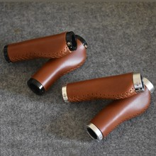 CHOOSE Ergonomics Retro Bicycle Leather Grips Classic Bike Vintage Handlabar Parts