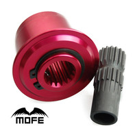 MOFE PINK Steering Wheel Snap Off Quick Release Hub Adapter Boss kit With Single Hand Operation