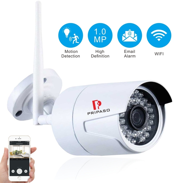 Pripaso Wifi Wireless Home Security Camera Outdoor 720P HD, Night ...