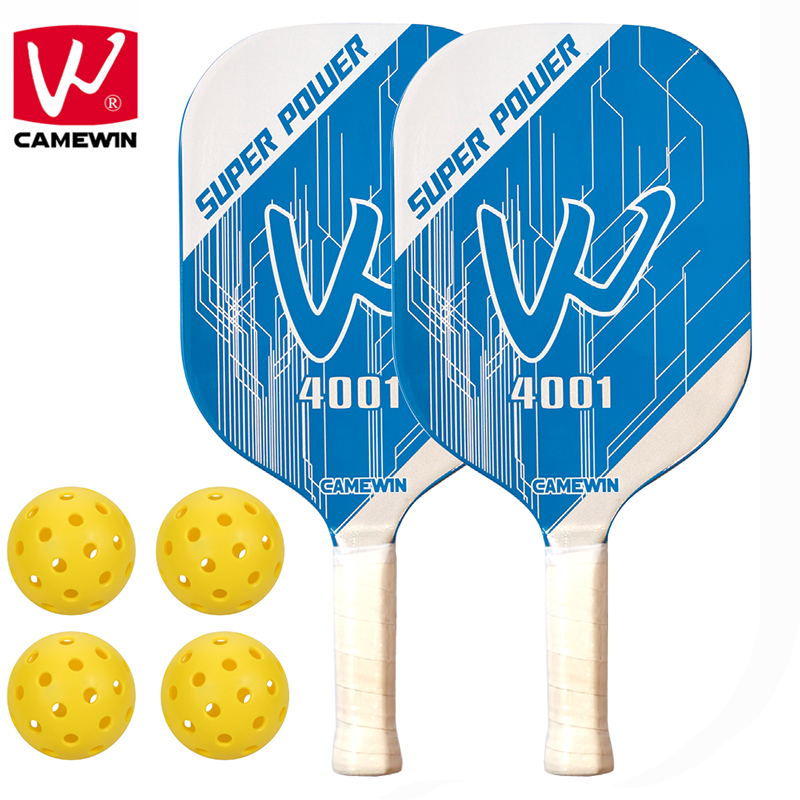 CAMEWIN Brand Pickleball Paddle | Set Includes Two Pickleball Paddles + Four Balls + Two Carrying Bag  | Pickleball Racket Sets includes
