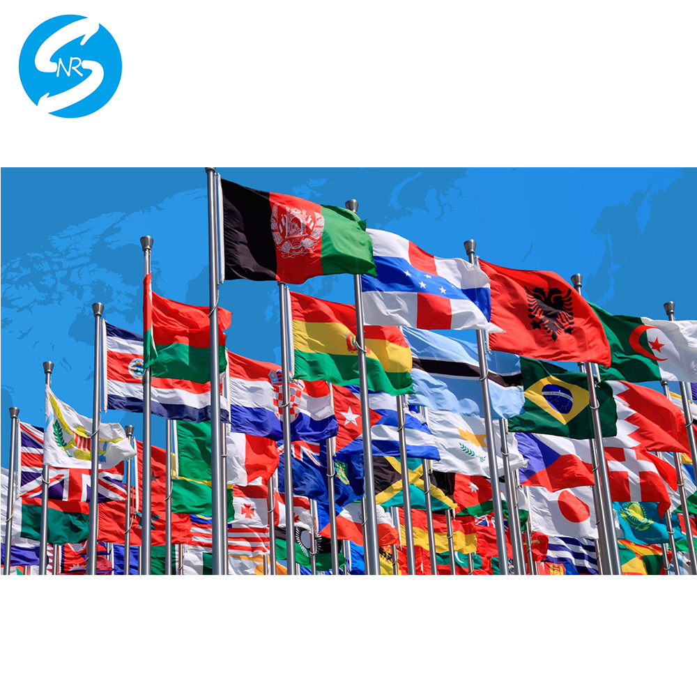 Bandera personalizada cualquier lado su diseño bandera con bandera de manga sin manga grometts para el pago