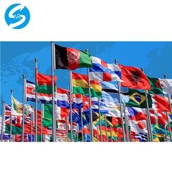 Bandiera personalizzata collaterali il vostro disegno bandiera con manica senza maniche grometts per il pagamento