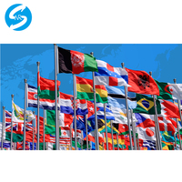Custom flag ๆด้านข้างออกแบบธงเสื้อไม่มีแขน grometts สำหรับการชำระเงิน