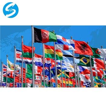 Custom flagge Jede seite ihre design flagge mit hülse ohne hülse grometts für zahlung