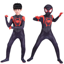 Kids Adult Spider-Man Cosplay Costume Into the Spider-Verse Miles Morales  Zentai Spiderman cosplay Bodysuit Suit Jumpsuits adult spiderman into the spider verse miles morales cosplay costume halloween costume for men suit superhero costume for adult