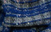 Wholesale 150CM Color Jacquard Woolen Fabrics Dyed Royal Blue Sundress Poliester Fabrics Textile Sweater Cloth Fabric