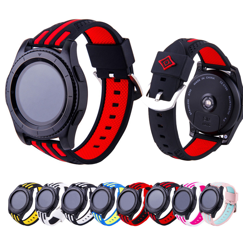 22mm Sport Soft Silicone WatchBand For Samsung Gear S3 Frontier Classic Smart Watch Writst Strap Accessory Quick Release