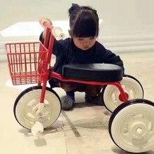 simplee child tricycle with adjustable back handlebar, practical baby bike walker steel frame l kids car