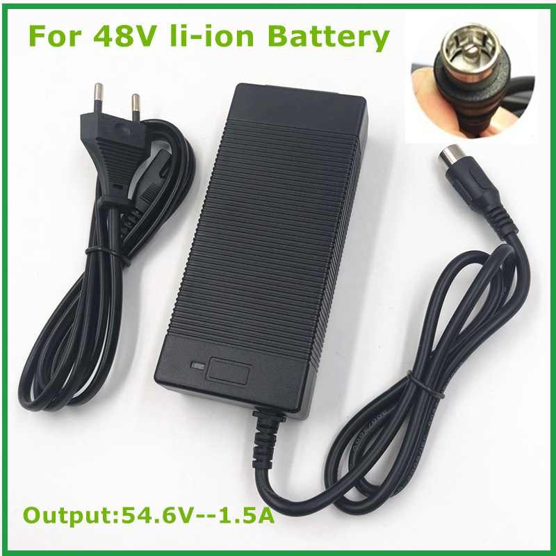 54.6V1.5A charger  54.6v 1.5A  electric bike lithium battery  charger for 48V lithium battery pack  RCA Plug  54.6V1.5A charger