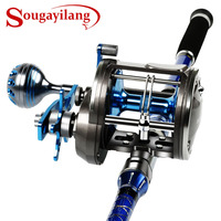 Sougayilang Trolling Baitcasting Reel Level Wind Full Metal Boat Saltwater Casting Reel Right Hand