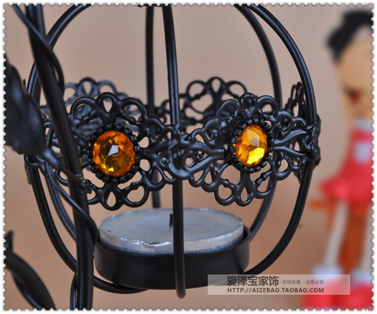 Fashion lantern tieyi mousse vintage hanging mousse at both ends new house decoration candle 10