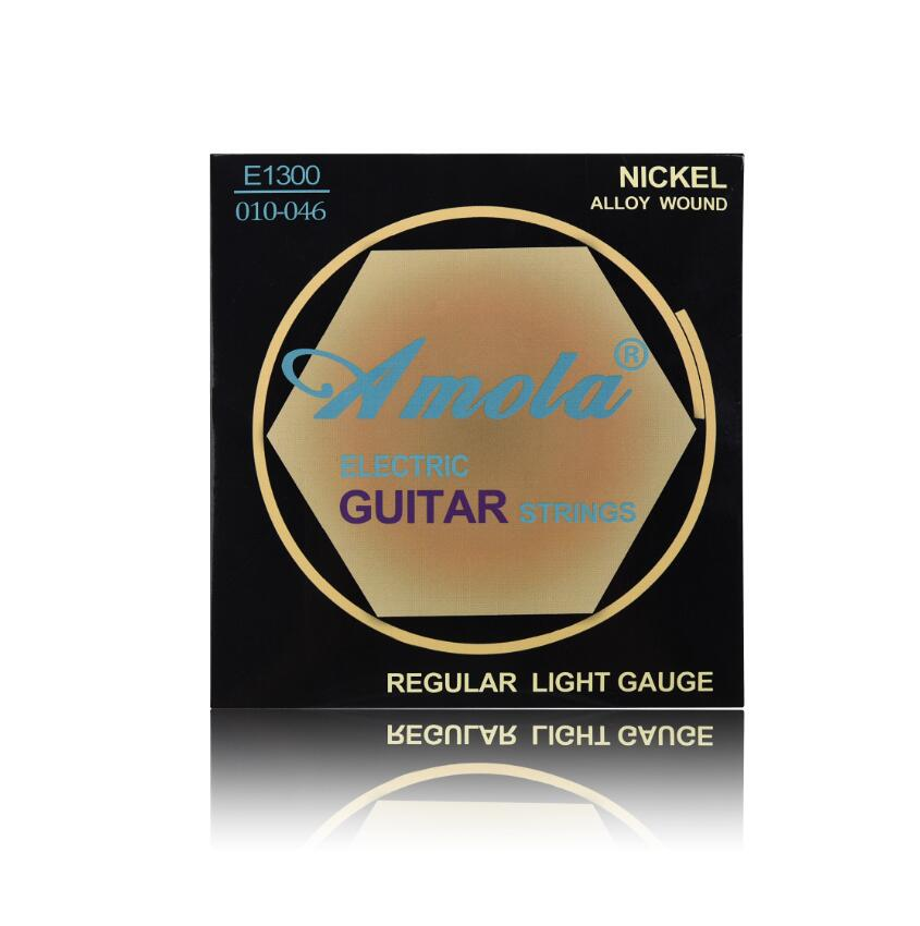 Amola E1300 010 Regular Light Gauge NICKEL Alloy Wound Electric Guitar Strings - Poppy Instrument Shop store
