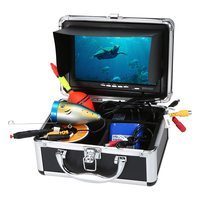 Lixada Fish Finder Waterproof Underwater Fishing Camera 24 PCS LED Lamps 15M Cable Portable 7 inch LCD Monitor for Sea Fishing