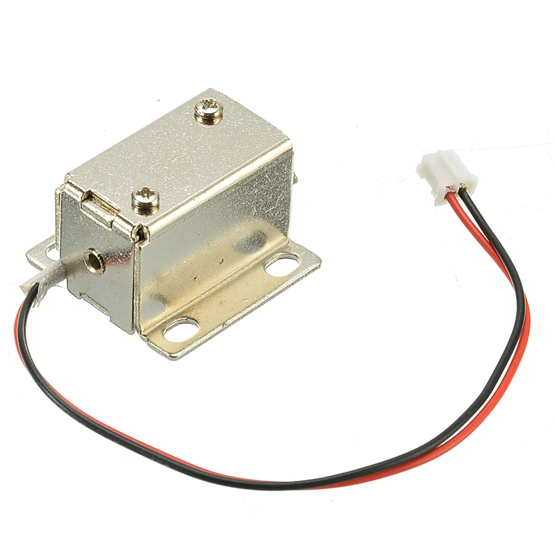 Electronic Lock Catch Door Gate Release Assembly Solenoid Access Control Metal Safety Magnetic Lock Security Protection 12V 0.4A