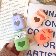 Love Heart Soft Silicone Case For Apple Airpods Shockproof Cover AirPods Cute Thin Air Pods Protector