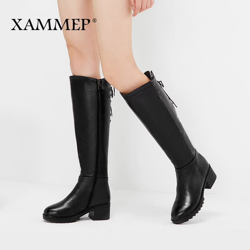 Brand Women Winter Shoes Genuine Leather Women Winter Boots Natural Wool Women Shoes Warmful High Quality