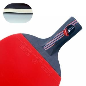 Image 4 - Lemuria Professional Carbon Fiber Table Tennis Racket Double Face Pimples in Rubber 2.15MM Sponge FL Or CS Handle Ping Pong Bat
