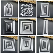 0a6b9be419c Curves Border Frames Square Card Making Scrapbooking Dies Metal Crafts  Layering Metal Cutting Dies Greeting Card