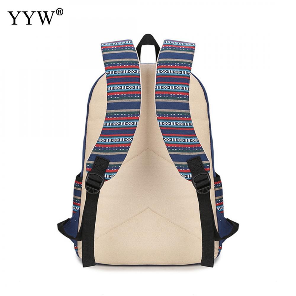 YYW Canvas Women Backpack Schoolbag Cheap Contrast Color Plaid Travel Backpacks Mochilas Escolares Para Adolescentes Meninas