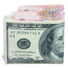 New Arrive Dollar Price Men Wallets Mini Leather Wallet Fashionable European Male Female Money Purse Credit Card Holder Bag