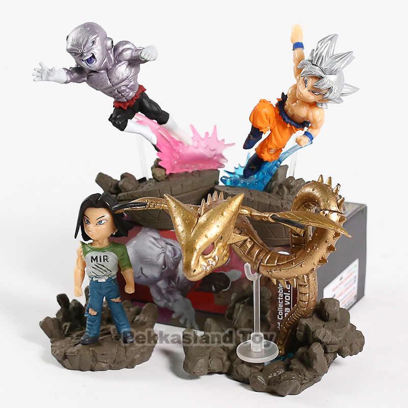 Dragon Ball Son Goku SUPER WCD Vol.2 Ultra Instinto Android 17 Jiren Super Shenron PVC Figuras Brinquedos 4 pçs/set