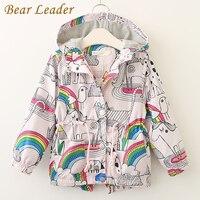 Bear Leader Girls Coats And Jackets Kids 2017 Autumn Brand Children For Girls Clothes Cartoon Print