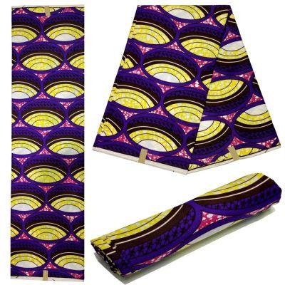 Dutch Wax Ankara Fabric High Quality 6 yards Wax Batik 2019 African Fabric Wax Cloth Polyester Embossed Printing