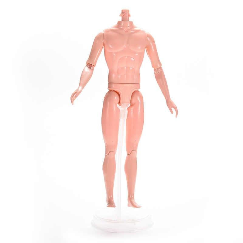 1 PC Naked ตุ๊กตาชายที่จำเป็นสำหรับตุ๊กตาทารก DIY ข้อต่อเคลื่อนย้ายได้ Boy ร่างกายของเล่นตุ๊กตา 26.5 ซมไม่มีหัว