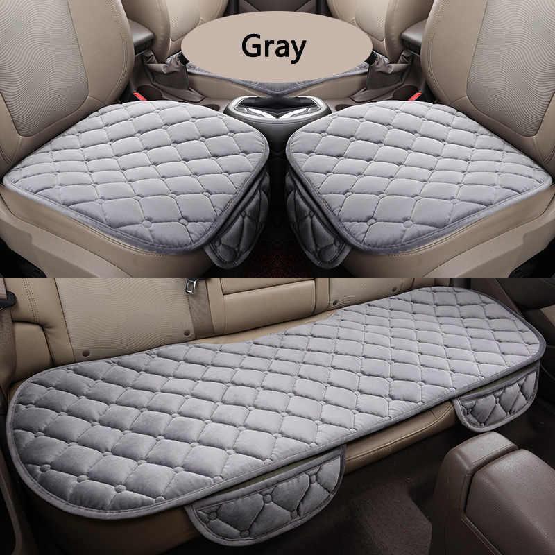 Hot Car 3 pçs/set Universal para Toyota Quadrado Confortável Macio Algodão Almofada Do Assento de Carro Tampas de Assento Da Frente Para Trás Da Cadeira Auto mat Pad