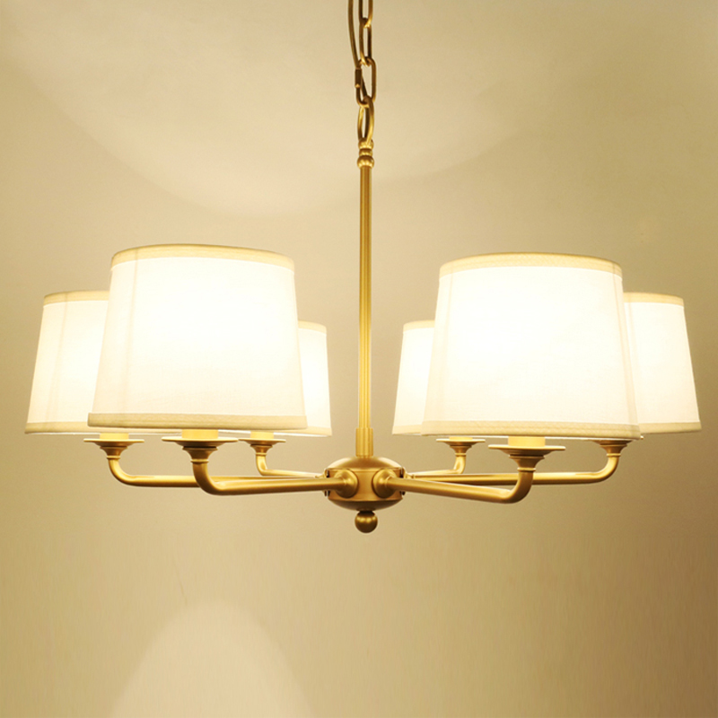 6 Lights Modern Metal Chandeliers American Country Fabric Lampshade Suspension Light Fixture Living Room Bedroom Lighting PL662 6 lights modern metal chandeliers american country fabric lampshade suspension light fixture living room bedroom lighting pl662