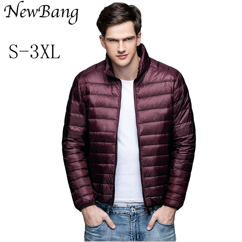 NewBang Brand Winter Men's   Down   Jacket Ultra Light   Down   Jacket Men Windbreaker Feather Jacket Man Lightweight Portable Warm   Coat