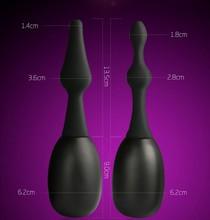 Bidet Male and Female Use Anal Anus Enema to Wash Silica Gel Flushing Device Black