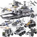 24 Modelos Super Pack! 8 Caja/lote Montado Tanques Aviones Militares Insertados Bloques de Construcción Educación Preescolar Rompecabezas Niños de Juguete