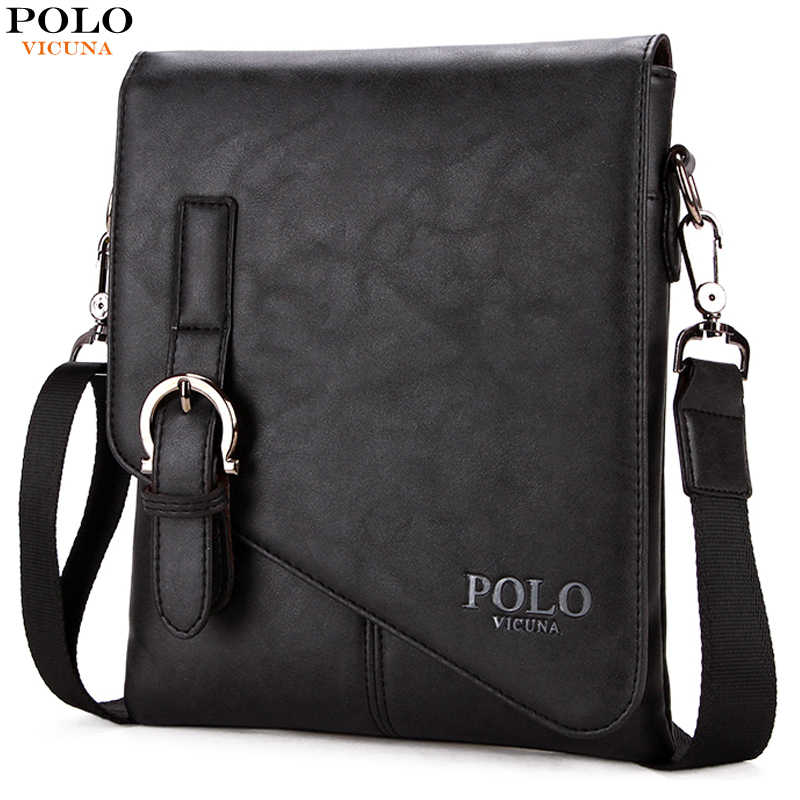 dbce9c6ab2be VICUNA POLO Burglarproof Buckle Small Mens Crossbody Bag Personality  Oblique Flap Cool Men Messenger Bag Sling