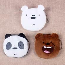 Hot On Sale Kawaii Cartoon Cartoon Bears Children New 2019 Plush Coin Purse Zipper Change Purse Wallet Kids Girl Women For Gifts kawaii fruit coin purse holders children apple strawberry plush purse bag zipper change purse wallet kids girl women for gift