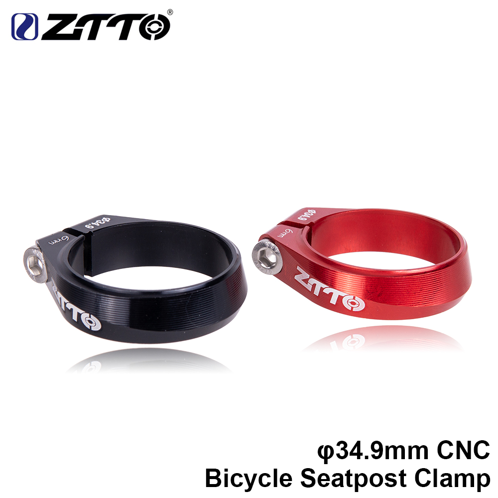 ZTTO MTB Road Bike High Strength CNC 34 9mm Bicycle Seatpost Clip Cycling Seatpost Tube Clip Aluminum Alloy Bicycle Parts in Seatposts Clamps from Sports Entertainment