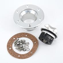 цена на Aluminum Billet Fuel Cell/Fuel Surge Tank Cap Flush Mount 6Bolt Cap Case 35.5 MM