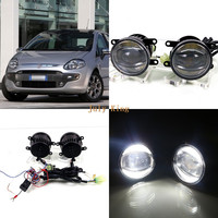 July King 1600LM 24W 6000K LED Light Guide Q5 Lens Fog Lamp 1000LM 14W Day Running