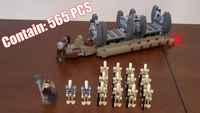 565pcs 10374 NEW Star Wars Battle Droid Troop Carrier Building Blocks Toys Gifts Figureset Boys 75086