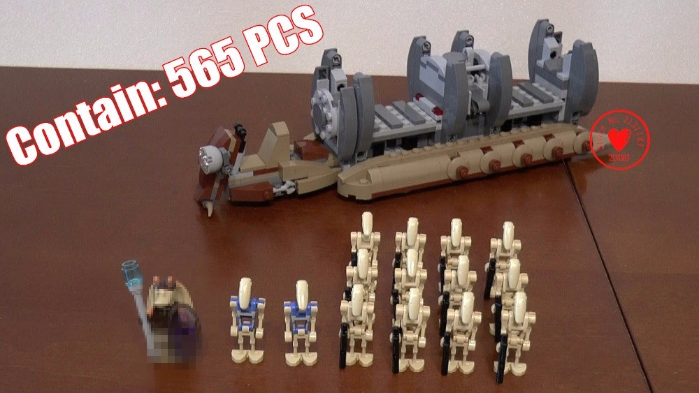 10374 NEW Star Warship war Battle Droid Troop Carrier model Building Blocks Toys Gifts Boys compatible with lego kid gift set bela 10374 star wars 7 battle droid troop carrier 565pcs building block educational toys for children compatible legoe