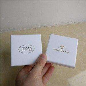 Image 3 - 100 יח\חבילה תכשיטי קופסות מתנה לבן מותאם אישית אריזת קופסא עם לוגו טבעת שרשרת צמידי עגיל מתנת אריזה תיבה