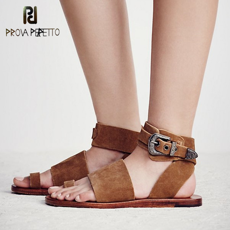 Prova Perfetto Classics Neutral Genuine Leather Causal Sandals Buckle Flange Sole Wear-Resisting Flipflop Flat Women Shoes LargeProva Perfetto Classics Neutral Genuine Leather Causal Sandals Buckle Flange Sole Wear-Resisting Flipflop Flat Women Shoes Large