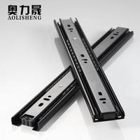 Schublade Slide Schiene 4 24 Zoll Kugellager Drei Falten Voller Erweitert Möbel Hardware-in Rutschen aus Heimwerkerbedarf bei