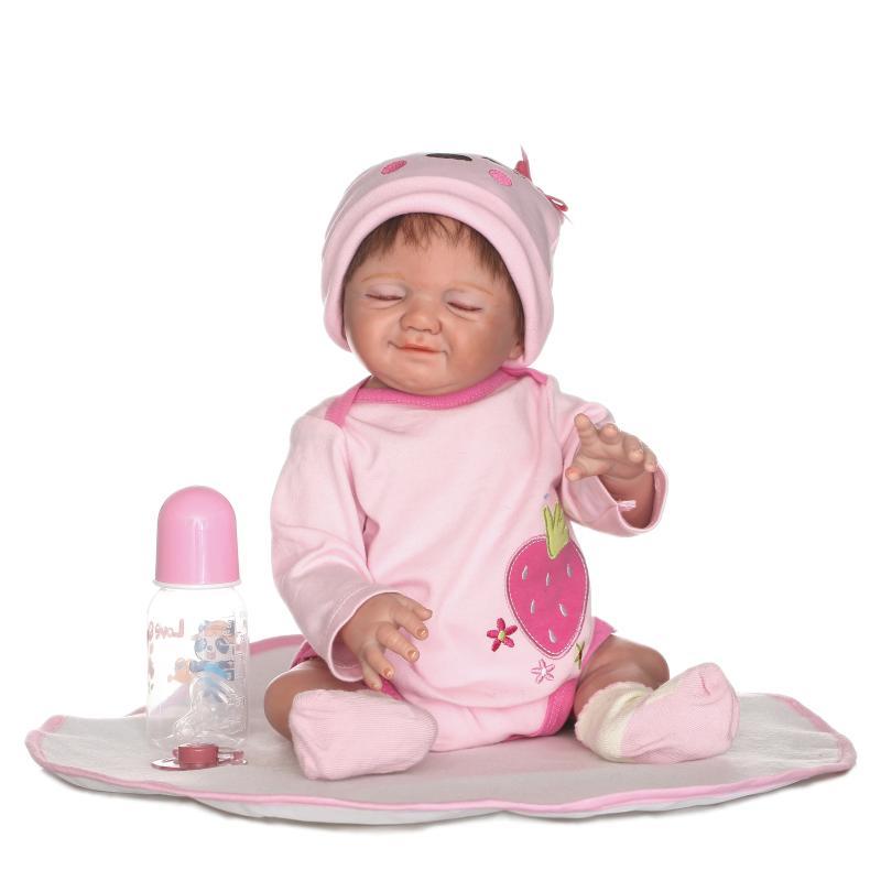 50cm Full Vinyl Silicone Reborn Baby Doll Smiling Girl Doll Real Like Smile Bonecas Doll Reborn Birthday Xmas Gift for Girls50cm Full Vinyl Silicone Reborn Baby Doll Smiling Girl Doll Real Like Smile Bonecas Doll Reborn Birthday Xmas Gift for Girls