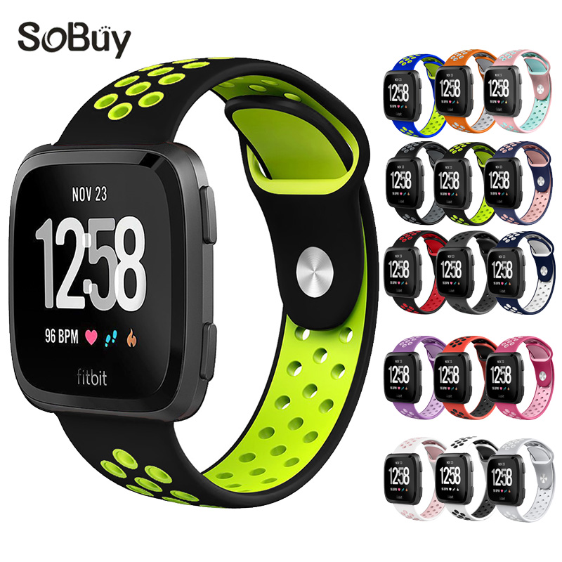 So buy sport Silicone band for fitbit versa nike Silica gel bracelet versa wristband S/L watchbands The New rubber wrist strap