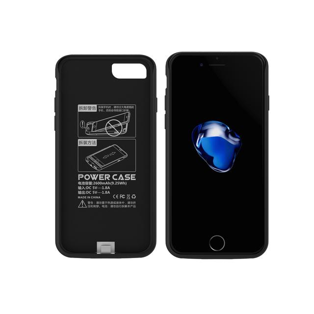 Gagaking nuevo smart extender la batería de reserva externa banco de la energía para iphone 6/6 s plus para iphone 6/6 s cubierta 2600-7500 mah