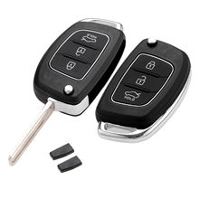 Yetaha 2pcs 3 Buttons Car Smart Remote Key With ID46 Chip For Hyundai Accent Elantra Avante Sonata Santa Fe Eon Click Solaris(China)