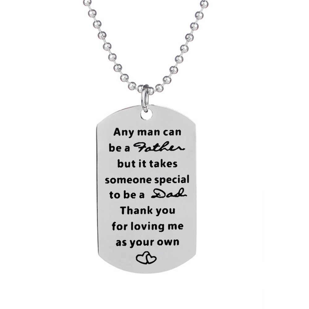 Prezent dla ojca brelok naszyjnik akcesoria mody biżuteria rodzinna krok tata ze stali nierdzewnej brelok naszyjnik charms