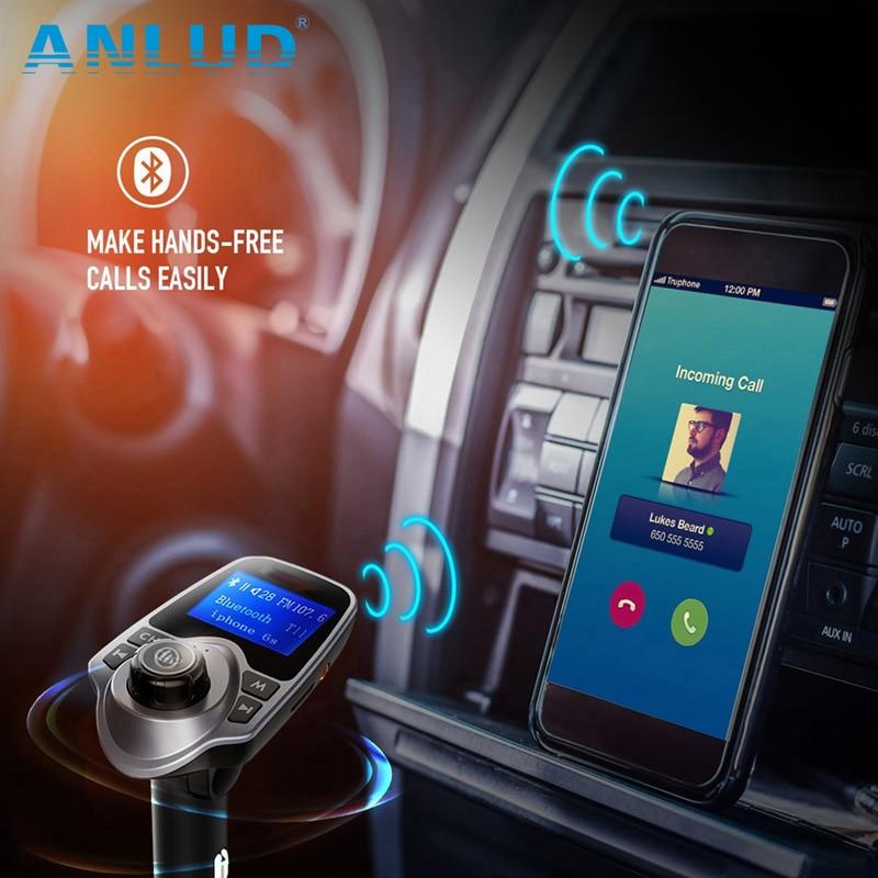 Juhtmevaba Bluetooth-autokomplekt Vabakäeseade FM-saatja - Autode Elektroonika - Foto 5
