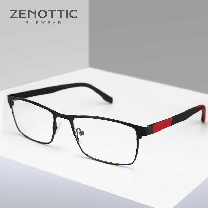 83a51f8e6cb Stainless Steel Glasses Frame Men Square Myopia Prescription Eyeglasses  2018 Male Metal Semi Optical Frames Eyewear